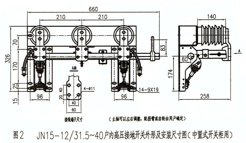 5~40型 户外高压接地开关(中置式开关柜用)
