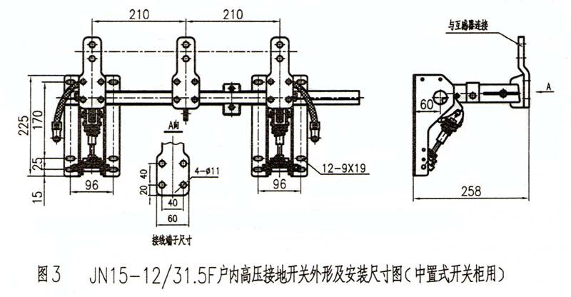 5f型 户外高压接地开关(中置式开关柜用)